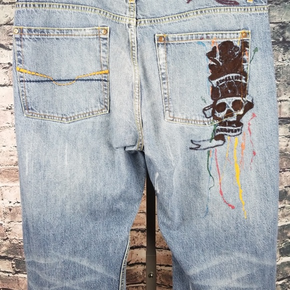Request Other - Request Embroidered Distressed Jeans 40x34